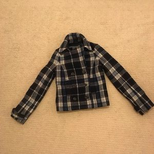 Abercrombie and Fitch Plaid Pea Coat